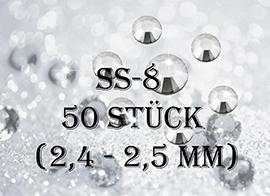ss8 -50 Stück - Straßsteinchen (2,3 - 2,4mm)