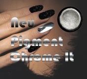 Chrom It Pigment *Blau - Chrom/Spiegel Effekt