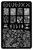 Stamping Schablone *Love,Paris,Ballon,Blüten,Blätter,Schrift - HK02