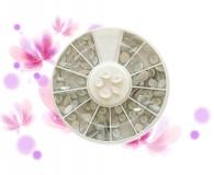 Rondell - ~100 Strass Perlen *versch. Formen*