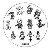 Stamping Schablone DXE4* Teufel, Hexe, Mumie, Frankenstein