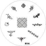 Stamping Schablone H 14*