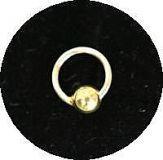 Piercing Ring *5mm* Kugel vergoldet- Silver925 -NP003