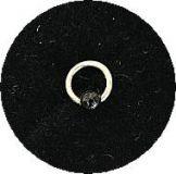 Piercing Ring *4mm*- Silver925 - Kugel Schwarz -NP101