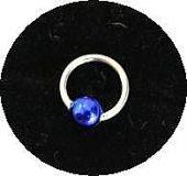 Piercing Ring *5mm* - Silver925 - Kugel Blau -NP009