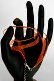 Halsband Organza-Wachs-Band Orange