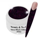 Black Magic Glitter Gel  5ml - Rose/Black #BM2