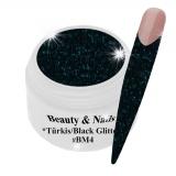 Black Magic Glitter Gel  5ml - Tourquise/Black #BM4