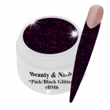 Black Magic Glitter Gel  5ml - Pink/Black #BM6
