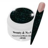Black Magic Glitter Gel  5ml - Grey Green/Black #BM8