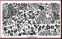 Stamping Schablone *Blätter, Federn, Blüten - #Flowers20
