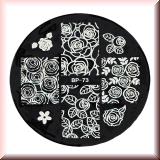 Stamping Schablone *Rosen, Rosenblüten, Rosenblätter - #BP73