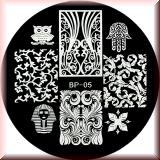 Stamping Schablone *Tutenchamun, Eule, Ranken - #BP05