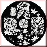 Stamping Schablone *Div.Blätter, Ahorn, Birke - #BP19
