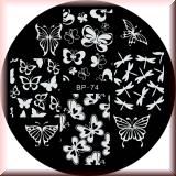 Stamping Schablone *Schmetterling, Libelle, Flügel - #BP74
