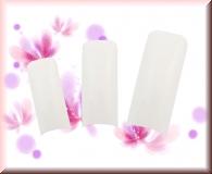 500 *French White* Tips Square - kurze Klebefläche