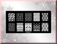 Stamping Schablone Rentier, Christstern, Puzzle BCN-010*