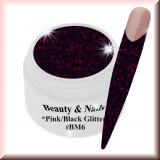 Black Magic Glitter Gel  5ml - Pink/Black #BM6