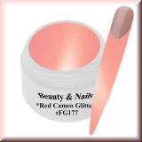UV Farbgel *Red Cameo Glitter*- 5ml -#FG177