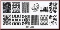 Stamping Schablone  *Katzen,Schmetterlinge,Paris;Fullcover Designs -#TU-I015