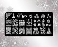 Stamping Schablone *Eiskristalle,Schneeflocken,Merry Xmas, Feuerwerk -#XY-J28