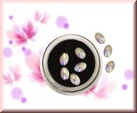 Straßsteinchen *irisierend* - ovale Form