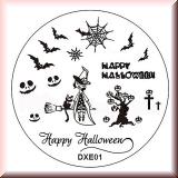 Stamping Schablone DXE1* Hexe,Kürbis,Spinnennetz,Fledermaus
