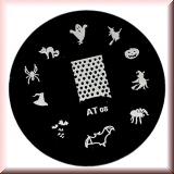 Stamping Schablone *Spinne,Gespenst,Katze,Fledermaus -#AT08