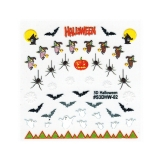 Halloween Nagelsticker *Hexe, Spinne, Fledermaus, Geist* *H106