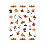 Halloween Nagelsticker **Kürbise, Fledermaus *H4