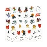 Halloween Nagelsticker **Dracula, Geist, Teufel, Kürbis, Spinne, Hexe *H109