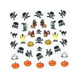 Halloween Nagelsticker *Kürbis, Hexe, Dracula, Geist, Totenkopf* *H108