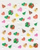 Sticker *Lebkuchenmännchen,Herzen,Mütze,Päckchen* #W1001