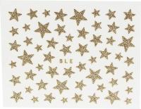 Sticker *Goldene Glittersterne, versch. Größen* #W1019