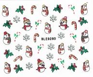 Sticker *Eiskristalle,Schneemann,Zuckerstange* #BLE929