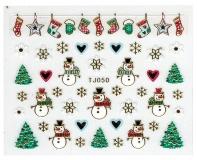 Sticker *Eiskristalle,Schneemann,Schneeflocken,Christbaum* #TJ050