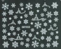 Sticker *Eiskristalle,Schneeflocken, versch.Größen* #W50