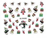 Sticker *Pinguine,Geschenke, Socken,Nikolausmütze* #BLE935
