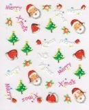 Sticker *MerryXmas, Nikolausmütze, Weihnachtsmann* #W1006