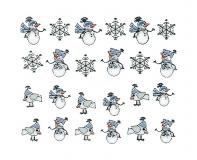 Sticker *Eiskristalle,Schneemann* #W26