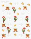 Sticker *Eiskristalle, Sterne, Zuckerstangen* #W1005