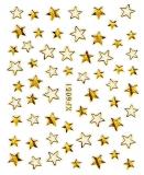 Sticker *Goldene Sterne, versch. Größen* #W1018