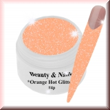 UV Farbgel *Orange Hot Glitter* - 5ml - #4p