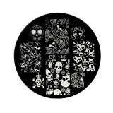 Stamping Schablone *Sweety Skull, Skull & Bones, Skull & Heart -#BP146