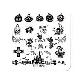 Stamping Schablone *Sweety Skull, Kürbis, Hexenhut, Kreuz -#UR_M20
