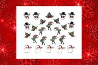 Sticker *Schneemann,Nikolaus,Weihnachtswichtel* #W25