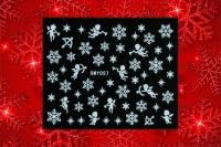 Sticker *Eiskristalle,Schneeflocken,Engel, versch.Größen* #W57