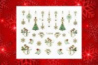 Sticker *Schneemann,Eiskristalle,Weihnachtsbaum* #TJ054