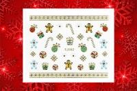 Sticker *Eiskristalle,Lebkuchenmännchen,Zuckerstangen,Geschenke* #TJ052