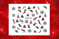 Sticker *Eiskristalle,Fäustlinge,Socken,Nikolausmütze* #BLE927